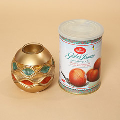 Gulab Jamun and Golden Diya Combo
