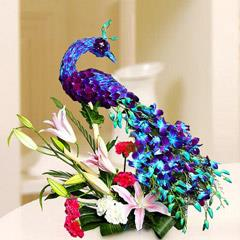 Floral Peacock Charm