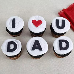 I Love You Dad Cupcakes