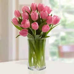 Pink Tulips Arrangement Standard