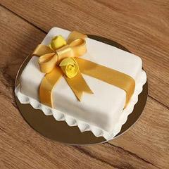 Designer Gift Wrapped Mono Cake