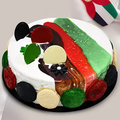 UAE Flag Themed Cake 4 Portions