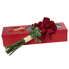 Red Roses in Red Box