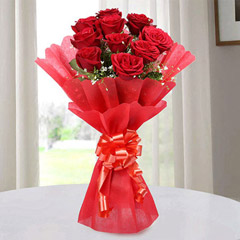 Red Roses Bouquet Of Love