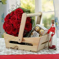 Wooden Hamper For Love
