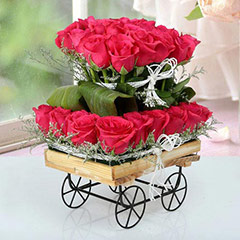 Roses On Cart