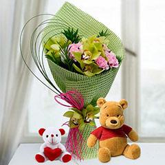 Teddies N Flowers
