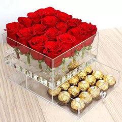 Elegant Roses and Ferrero Rocher