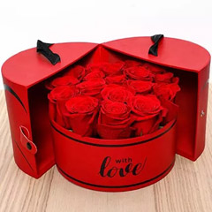 Luxurious Box Of Red Roses