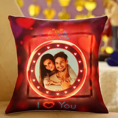 Lovey Dovey Personalised LED Cushion