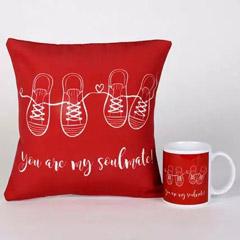 Soulmate Mug & Cushion Combo