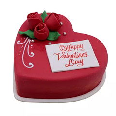 Heart Shaped Valentine Cake 1Kg