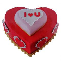 Valentine Heartshape Cake