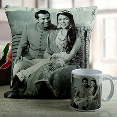 Romantic Couple Personalised Cushion and Mug Combo