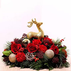 Reindeer Theme Center Table Flowers
