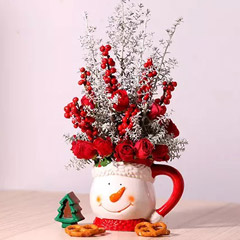 Ceramic Mug Flower Arrangement