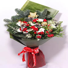 Xmas Decor Flower Bouquet