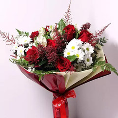 Christmas Themed Flower Bouquet