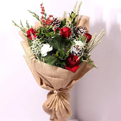 Elegant Jute Wrapped Flowers