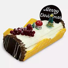 Vanilla Log Cake 4 Portion