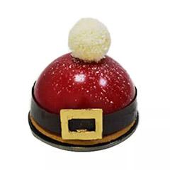 Santas Cap Berry Symphony Log Cake