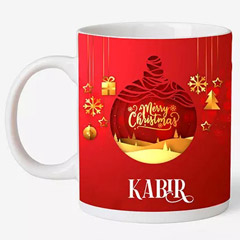 Personalised Christmas Wishes Mug