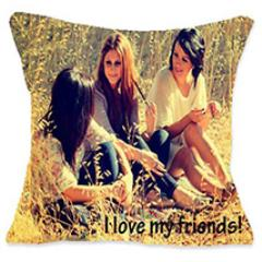 I Luv My Friends Personalized Cushion