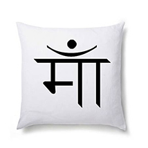 Maa in Hindi Printed Cushion