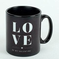 Black Ceramic Love Mug
