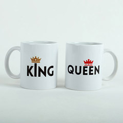 King N Queen Couple Mugs