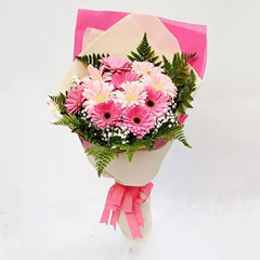 Beautiful Pink Gerbera Bouquet