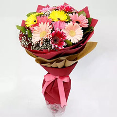10 Gerbera Flowers Bouquet