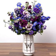 Purple and Blue Flower Arrangement