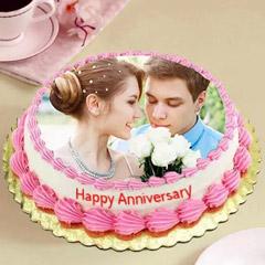 Delicious Anniversary Photo Cake