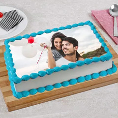 Happy In Love Photo Cake