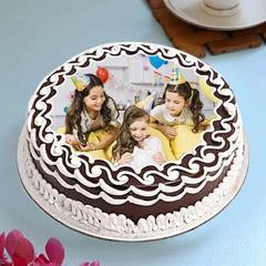 Delightful Birthday Photo Cake
