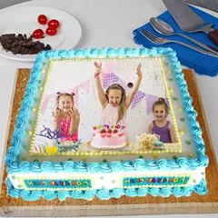 Birthday Frame Photo Cake