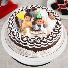 Joyful Birthday Photo Cake