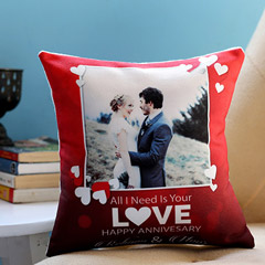 Personalised Anniversary Love Cushion