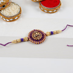 Embellished Purple Rakhi