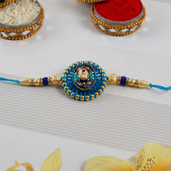 Embellished Blue Rakhi