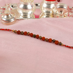 Rudraksha And Beads Rakhi