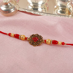 Antique Red Rakhi