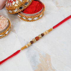 Simple Rudraksha Rakhi