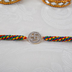 Colorful Swastika Rakhi