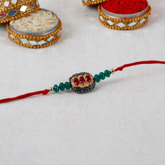 Dashing Red Stone Rakhi