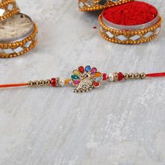 Colorful Designer Peacock Rakhi