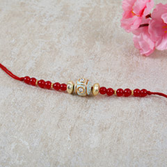Red Beaded Rakhi