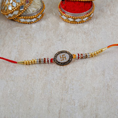 Antique Swastik Rakhi