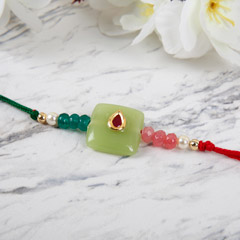 Green Ethnic Rakhi
